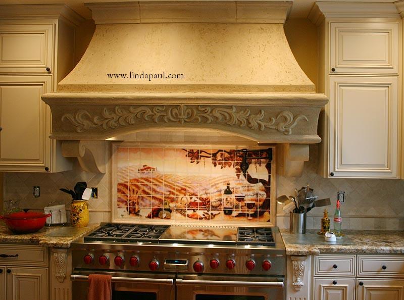 The Vineyard Tile Murals Tuscan Wine Tiles Kitchen
