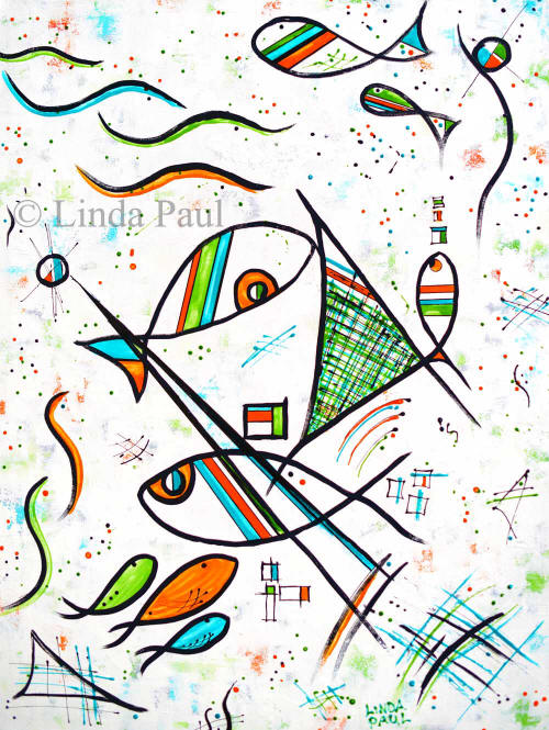 Picasso fish art painting