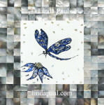 blue dragonfly tile art