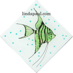 sea glass gree fish tile