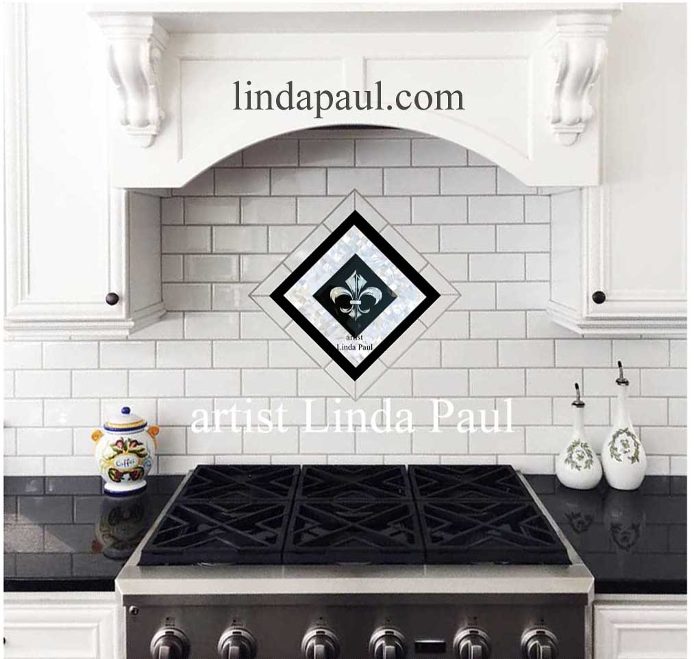 In Stock Tile Murals And Mosaic And Metal Accent And