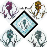 seahorse glass tile accents
