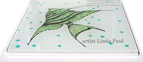 side view fish tile
