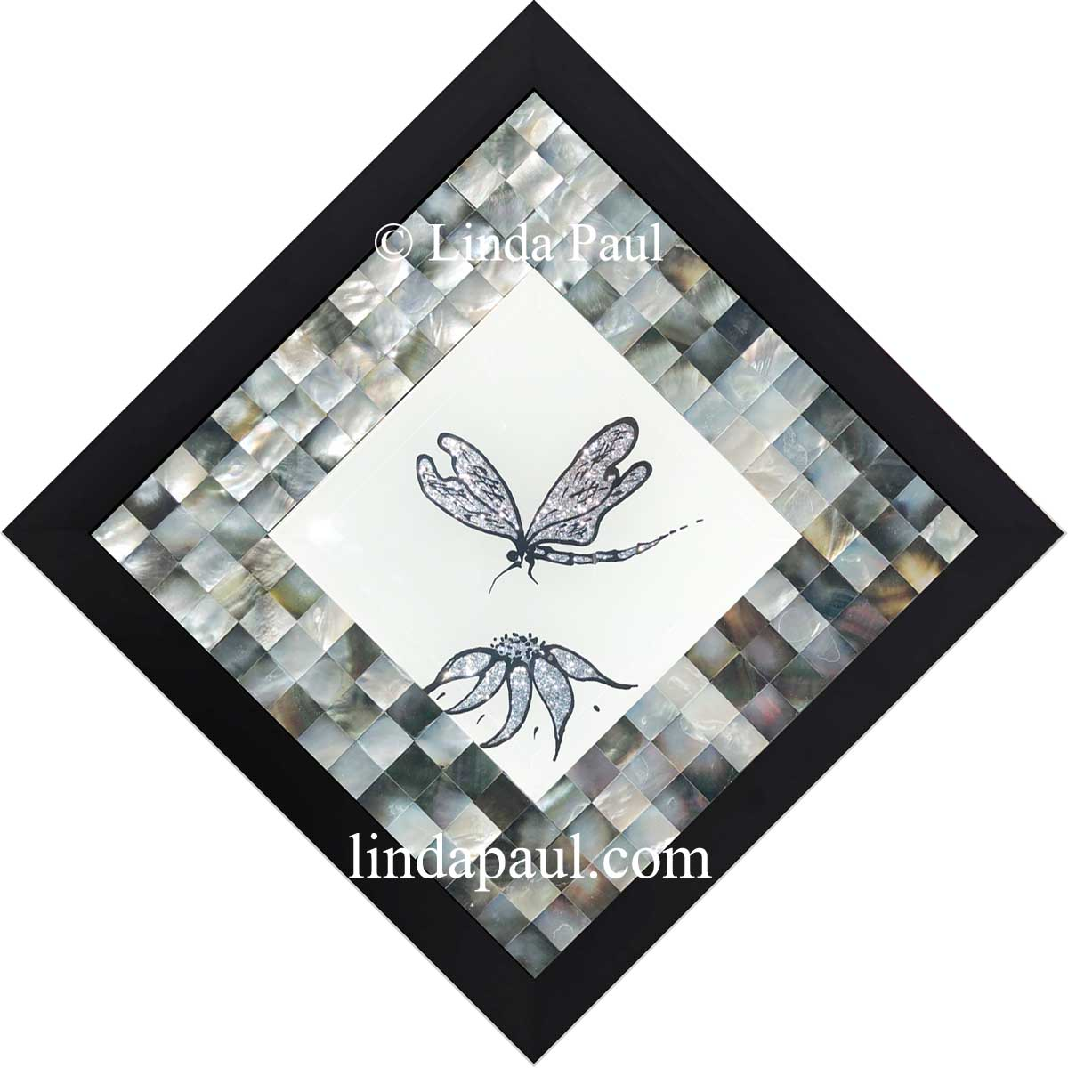 Dragonfly Art Glass Hand Painted Tiles Of Dragonflies Mosaics