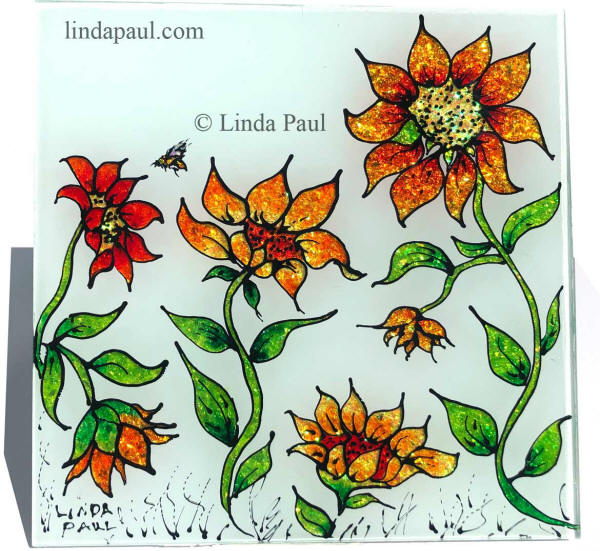 hand painted decorative tiles.htm sunflower tile handmade hand painted glass art for backsplash  sunflower tile handmade hand painted