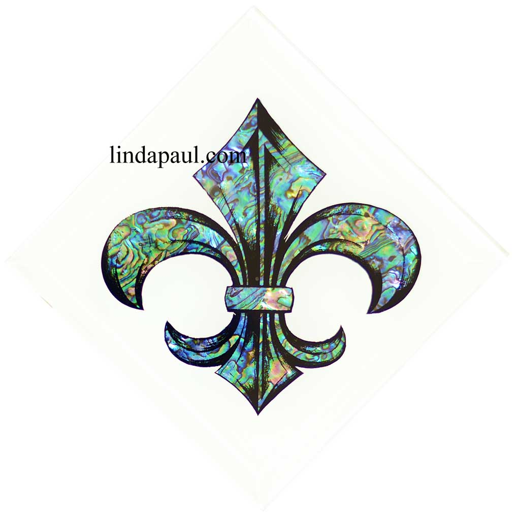 fleur de lis tile kitchen wall decor backsplash art