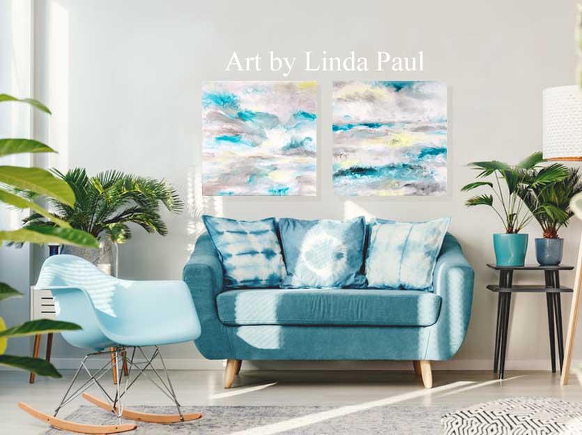 Moody Ocean Original Paintings On Sale