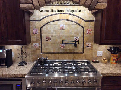 Decorative Accent Tiles In Backsplash