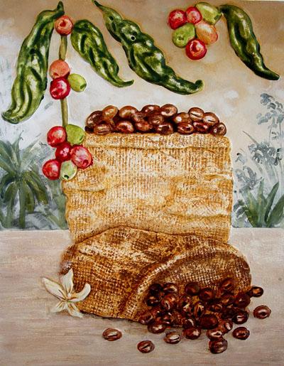 Coffee Paintings Original Coffee Wall Art Painting