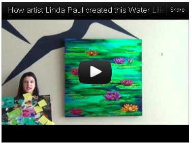 watch video on water lilies paintings