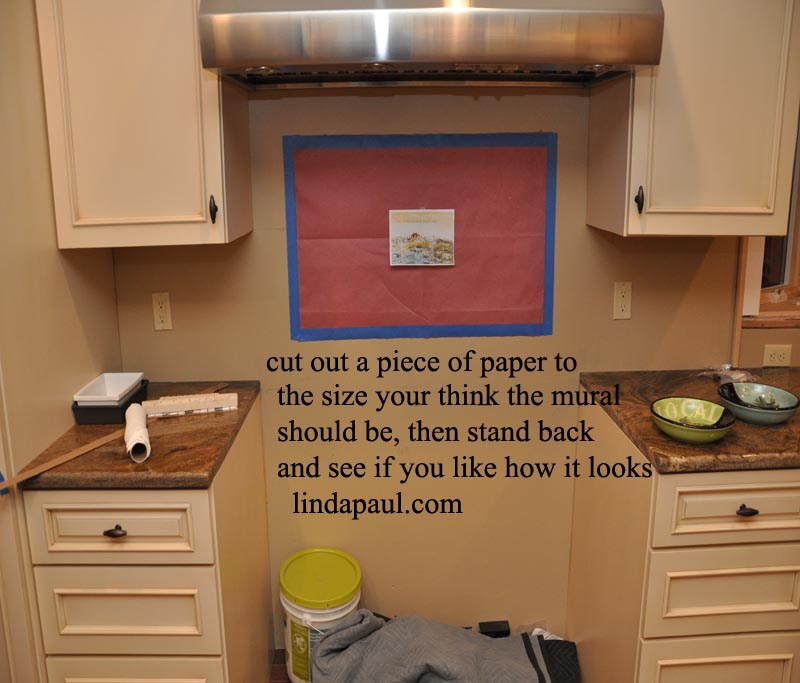 how to size your backsplash mural