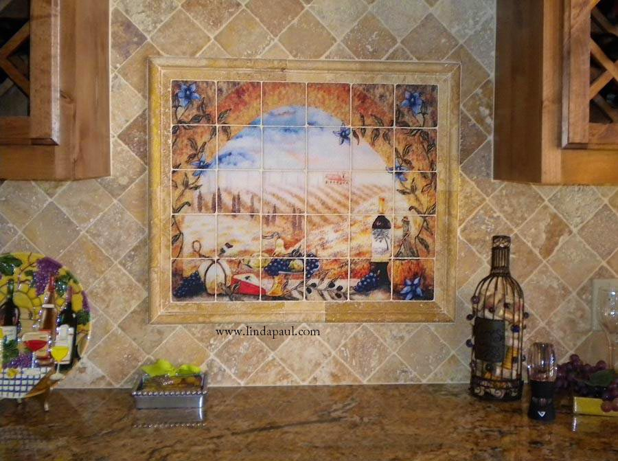 Tile Murals Tuscan Backsplash Tiles