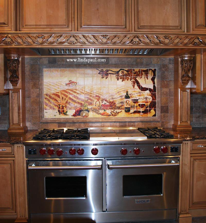 Photo Of Kitchen Tiles: The Vineyard Tile Murals