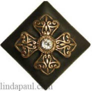cross tile with cubic zirconian