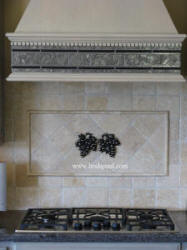 kitchen backsplash with 2 borderless vienna grape accents