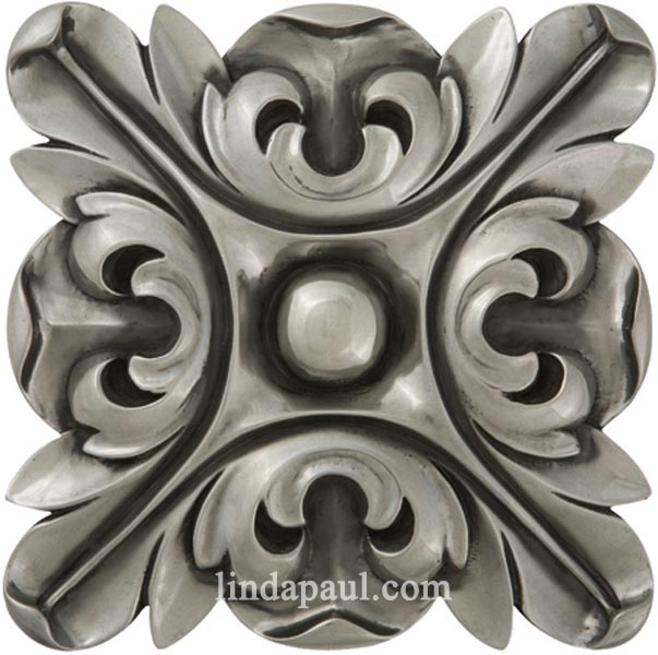 Rachels Flower Kitchen Backsplash Medallions And Accents - 4x4 stainless steel tiles