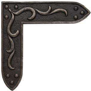 studded bracket - metal accent