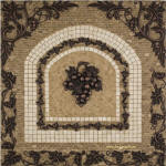 Chateau grapes mosaic tile kitchen backsplash medallion