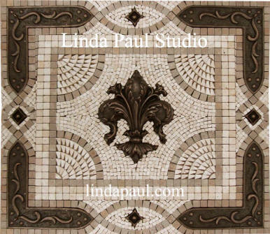 24 x 21 fleur de lis kitchen backsplash