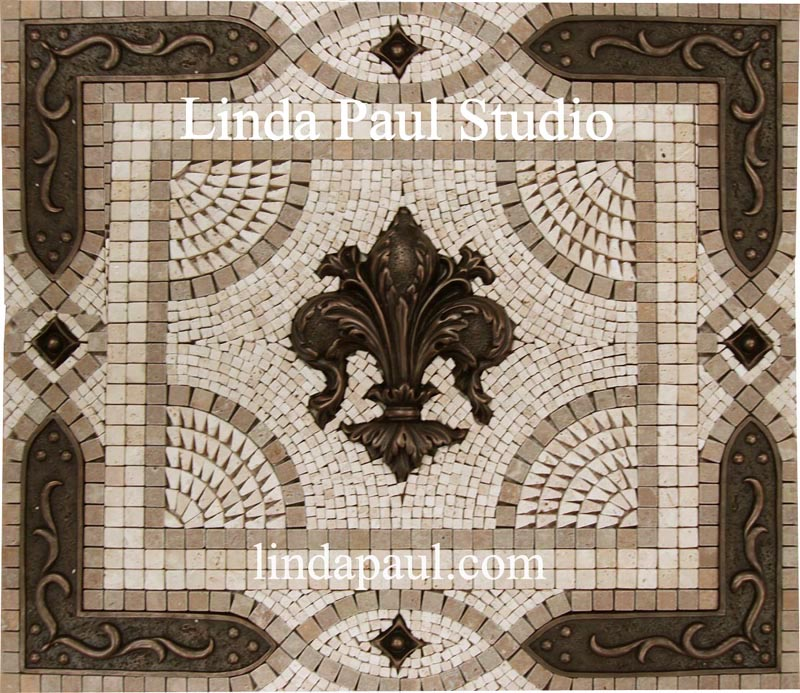 Fleur De Lis Backsplash Tile Mosaic Medallion Mosaics