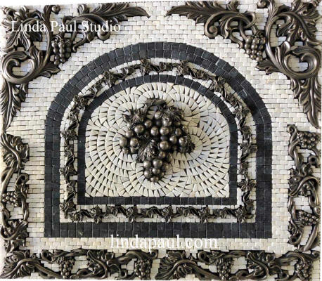 24x21 grape medallion backsplash