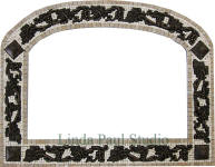 mosaic tile frame with metal accents