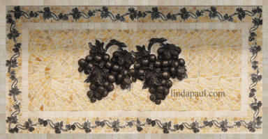double grape medallion mosaic 24 x 14