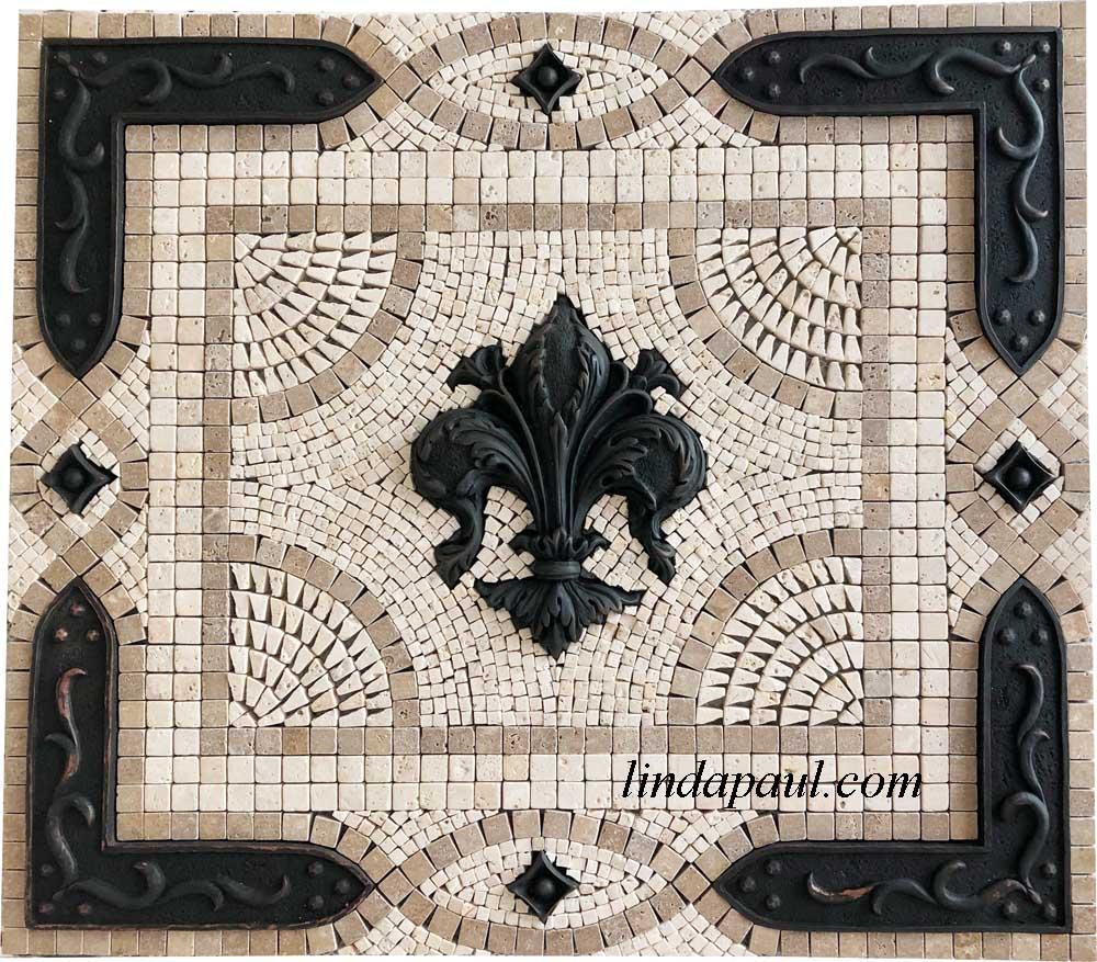 Fleur De Lis Backsplash Tile Mosaic