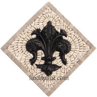 fleur de lis kitchen backsplash small medallion
