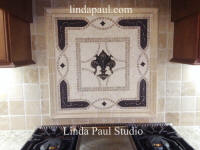 grand vienna fleur de lis kitchen backsplash medallion