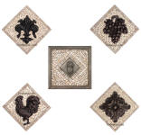 collection of small medallions for kitchen backsplash