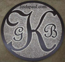 monogram kitchen backsplash or floor medallion