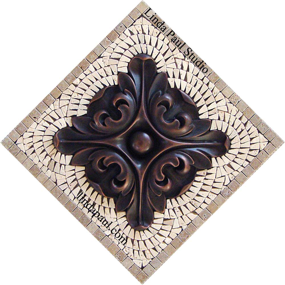 Copper Small Backsplash Medallion