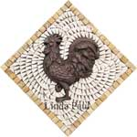 rooster mini medallion