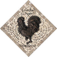 rooster small backsplash centerpiece