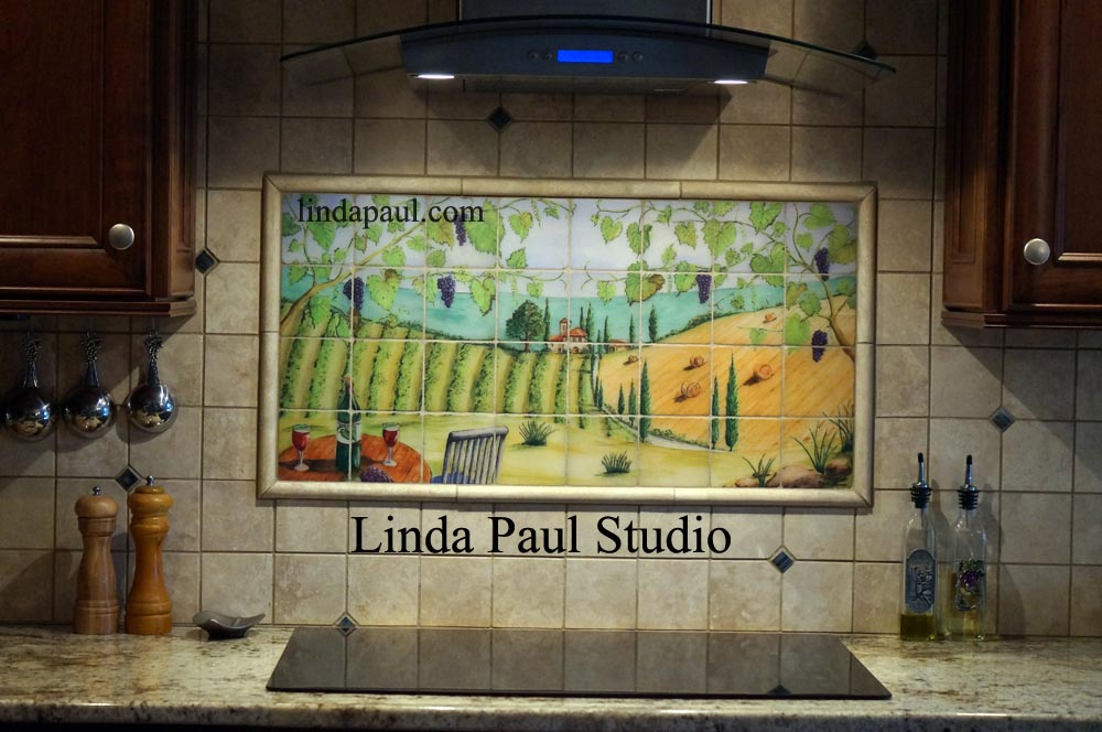 Custom tile murals from your art or photo tile art for Custom mural tiles