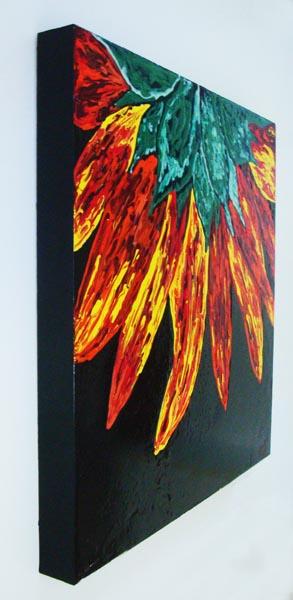 Sunflower Decor Abstract Sunflower Art Painting Of