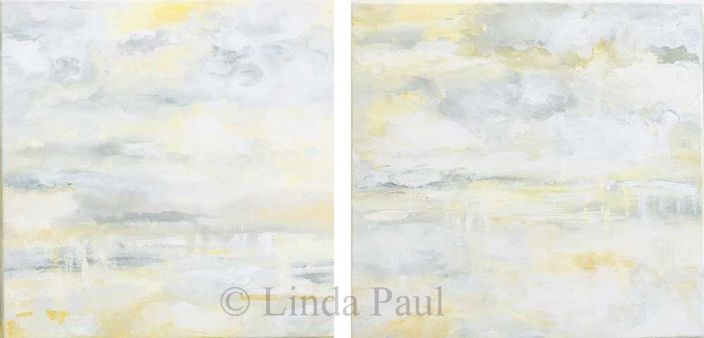 Vanilla Skies Abstract Original Art Painting On Canvas