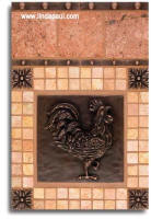 rooster tile designs