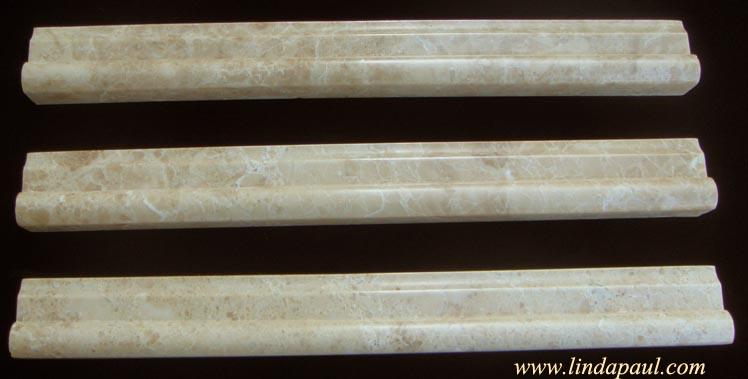 Tile Trim Borders - Stone, Travertine Molding Border Tiles