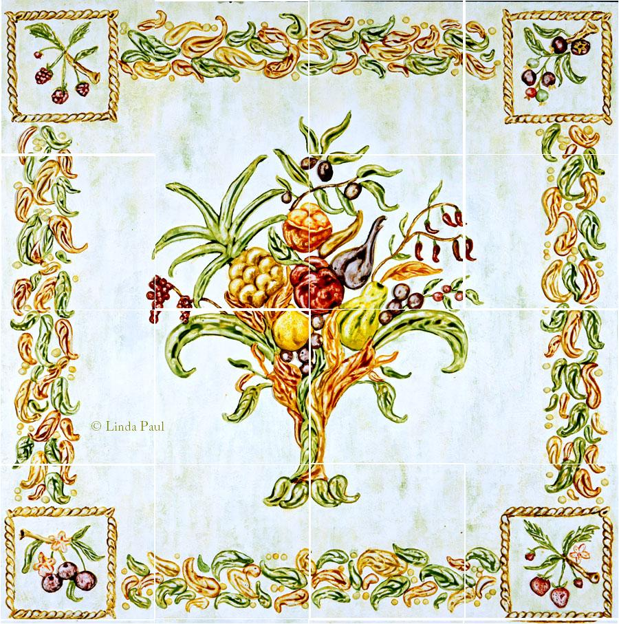 Italian mural tiles wall murals Italian designs