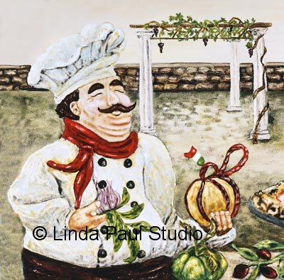Fat Italian Chef Cartoon