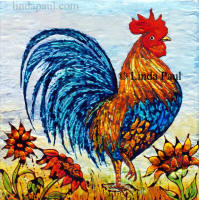 rooster ceramic tile
