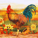 rooster decorative tile accent