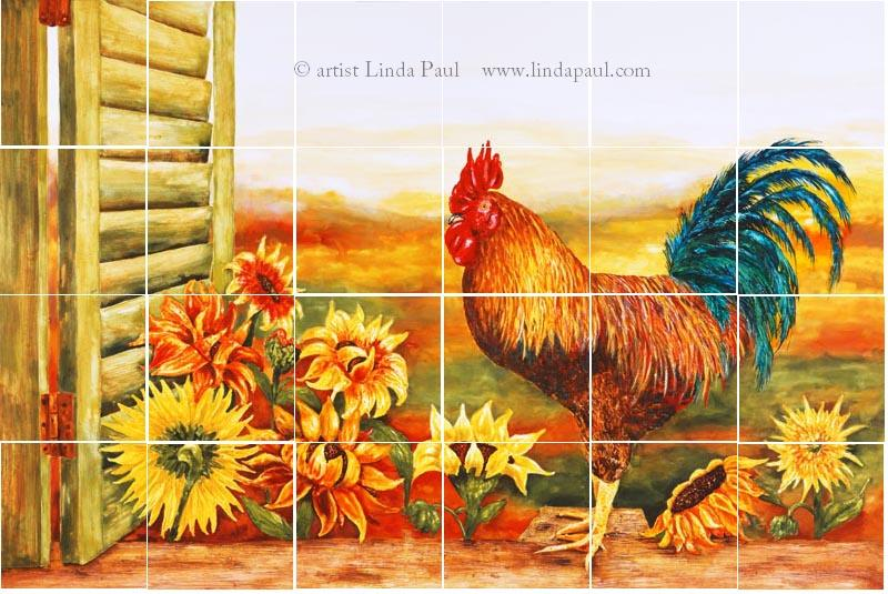 Superieur Rooster Kitchen Backsplash