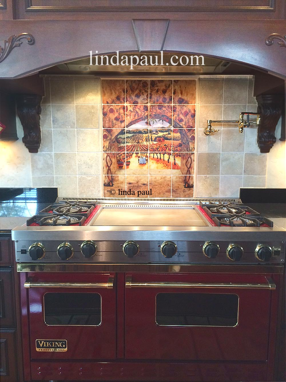 Kitchen Backsplash Ideas Red Picture Metal Cabinets Tuscan Tile Murals Tuscany Design Tiles