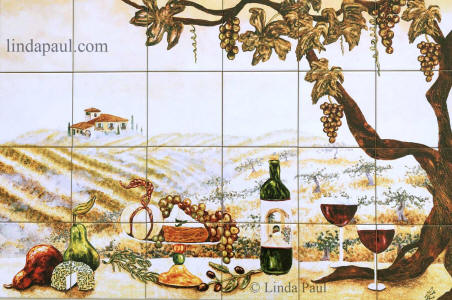 vineyard 36 x 24 wine tile mural