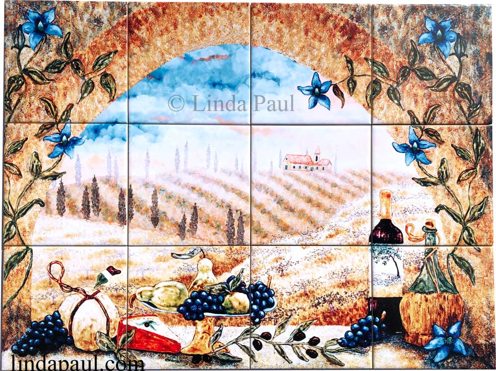 Tuscany Arch tile mural backsplash