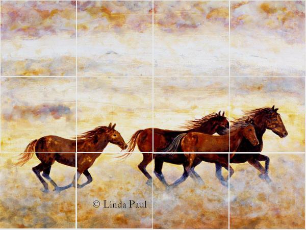 Horse Tile Murals Kitchen