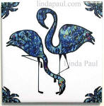 ocean blue Flamingo tile